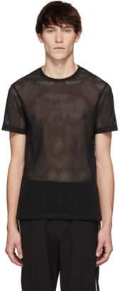 Helmut Lang Black Mesh Jersey T-Shirt