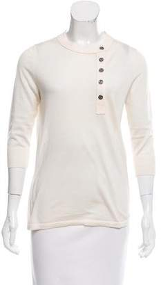 Chanel Cashmere Button-Accented Sweater