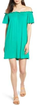 Bobeau Off The Shoulder Knit Dress