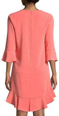 Cynthia Steffe Cece By 3/4-Sleeve Ruffle-Hem Shift Dress