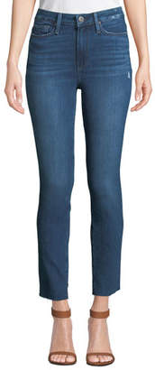 Paige Margot Straight-Leg Ankle Jeans with Raw Hem