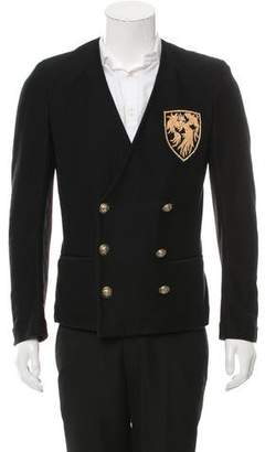 Balmain Crest Patch Double-Breasted Blazer