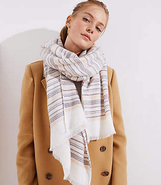 LOFT Striped Blanket Scarf