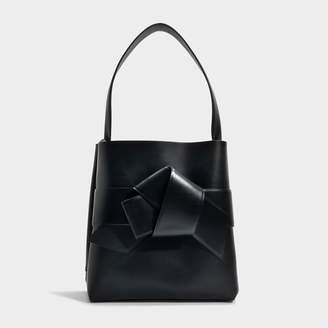 Acne Studios Musubi Shopper Bag in Black Calf and Lamb Leather