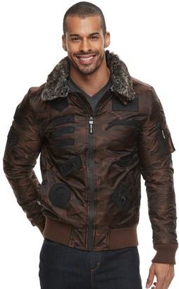X-Ray Xray Men's XRAY Removable Faux Fur Collar Flight Jacket