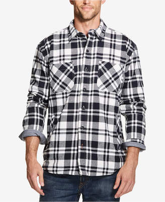 Weatherproof Vintage Mens Plaid Flannel Shirt Jacket, s