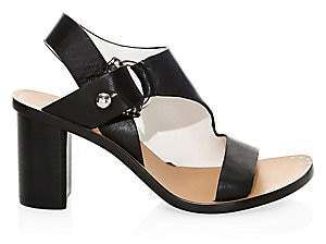 Rag & Bone Women's Arc Block-Heel Leather Sandals