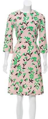 Marni Floral Print Knee-Length Dress
