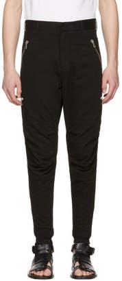 Balmain Black Multi Zip Trousers