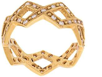 Cathy Waterman 22kt gold and diamond braided ring