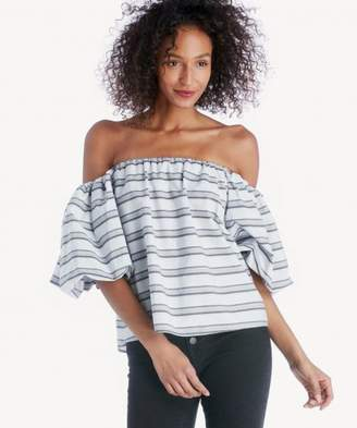 Sole Society Strapless Voluminous Sleeve Top