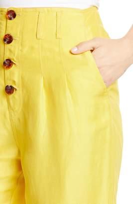 Joie Braden Crop Linen Blend Pants