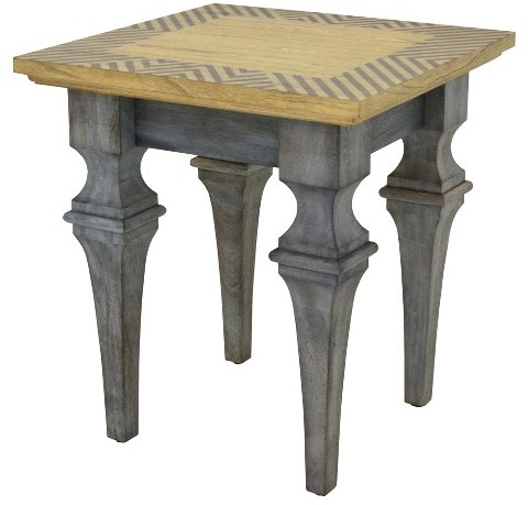 222 Fifth 222 Fifth Patina Vie Rue Montmarte Grey Accent Table - Grey