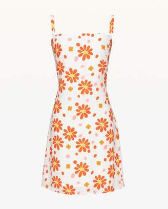 Juicy Couture Dotted Daisy Silk Slip Dress