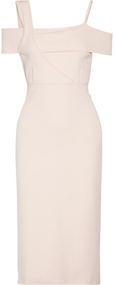 Jason Wu - Asymmetric Stretch-knit Midi Dress - Pastel pink $995 thestylecure.com