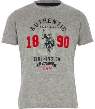 River Island Boys grey U.S. Polo Assn. print T-shirt