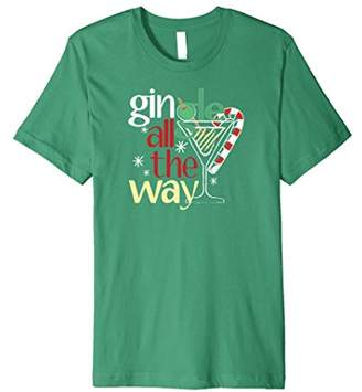 Gingle All The Way Christmas Martini Short Sleeve T-Shirt