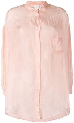 Forte Forte crease effect sheer shirt