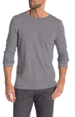 Save Khaki Long Sleeve Stripe Shirt