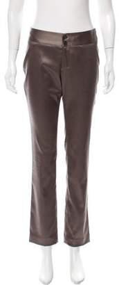 Issey Miyake Mid-Rise Straight-Leg Pants