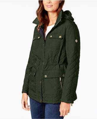 Michael Kors Hooded Quilted Anorak Coat