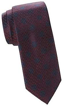 Canali Men's Jacquard Silk Dot Tie