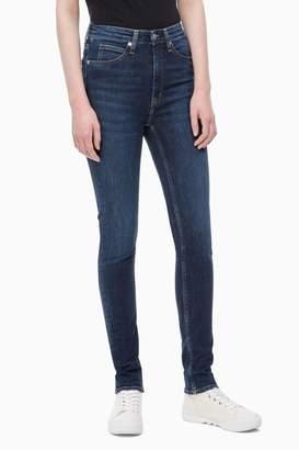 Calvin Klein Womens Jeans Blue High Rise Skinny Jean - Blue