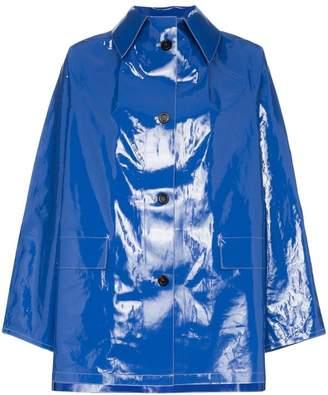 Kassl patent button down raincoat