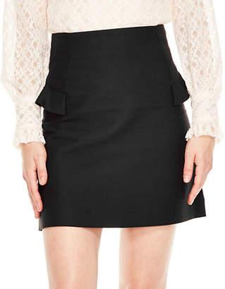 Sandro Knit Ruffle Oro Skirt