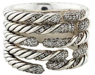 David Yurman Diamond Five Row Willow Ring silver Diamond Five Row Willow Ring