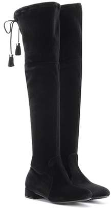 Prada Velvet over-the-knee boots