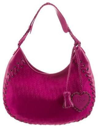 Christian Dior Leather-Trim Diorissimo Hobo