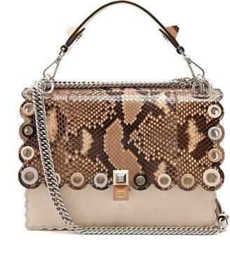 Fendi Kan I snakeskin and leather shoulder bag
