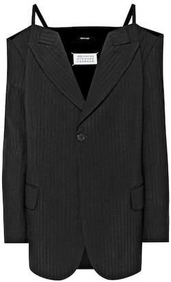 Maison Margiela Off-the-shoulder wool jacket