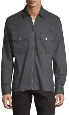 7 For All Mankind Full-Zip Collared Jacket