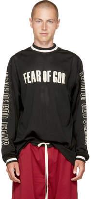 Fear Of God Black Long Sleeve Mesh Motocross T-Shirt