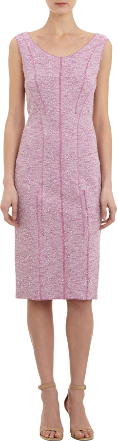 Nina Ricci Tweed Sleeveless Sheath Dress