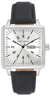 Vince Camuto Men's Square Strap Watch, 38mm