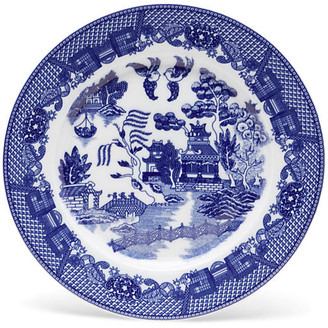"""One Kings Lane 11"""" Willow Plate - Blue/White"""
