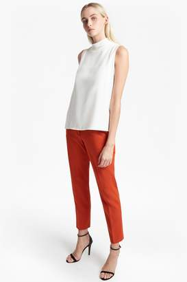 French Connenction Crepe Light Mock Neck Top