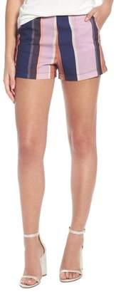 4SI3NNA Stripe High Waist Shorts