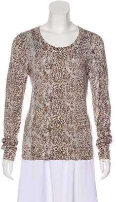 Diane von Furstenberg Long Sleeve Metallic Sweater