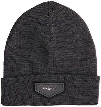 Givenchy Grey Wool Beanie Cap
