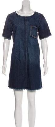 Current/Elliott Distressed Denim Dress