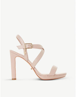 Dune Misstee cross-strap leather heels