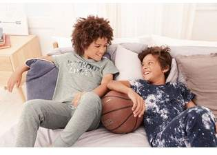 Next Boys Blue/Grey Cosmic Slogan Pyjamas Two Pack (3-16yrs)