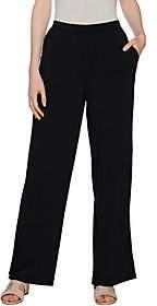 H by Halston Petite Jet Set Jersey Wide LegPull-on Pants