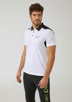 Emporio Armani Ea7 Breathable Ventus 7 Technical Fabric Polo Shirt