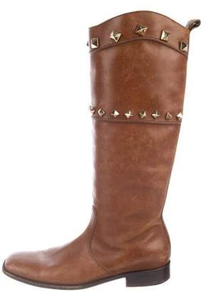 Dolce & Gabbana Studded Leather Boots