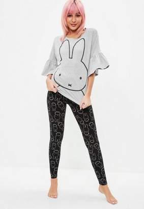 Missguided Miffy Frill Sleeve Legging Pajama Set